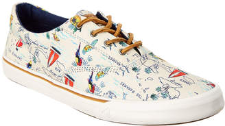 Sperry Men's Striper Ii Cvo Map Print Sneaker