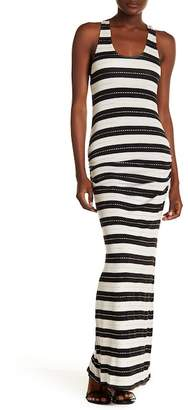 Ach'e A Che' Venice Striped Racerback Tank Maxi Dress