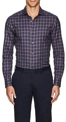 Ermenegildo Zegna Men's Plaid Cotton Shirt