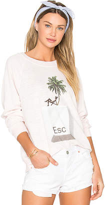 Wildfox Couture x REVOLVE Tropical Escape Sommers Sweater in Pink $108 thestylecure.com