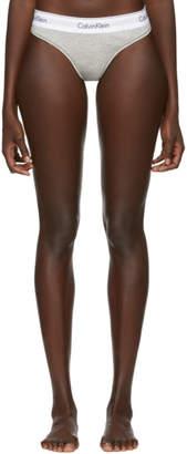 Calvin Klein Underwear Grey Modern Thong