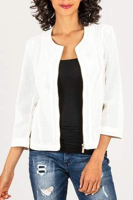 KUT from the Kloth Perforated Leather Jacket