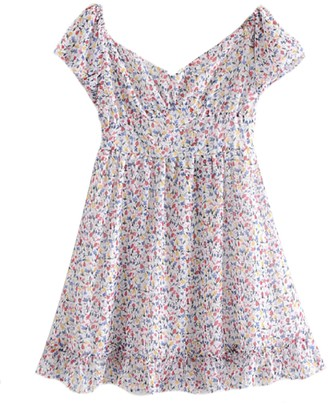 Goodnight Macaroon 'Bria' Floral Ruched Dolly Mini Dress