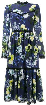 Erdem floral print tiered dress