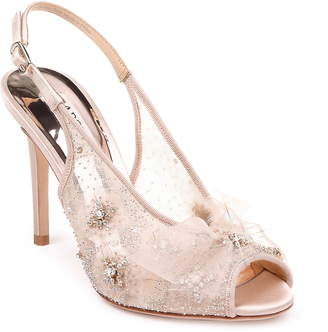 Badgley Mischka Collection Aimee Crystal Embellished Slingback Sandal