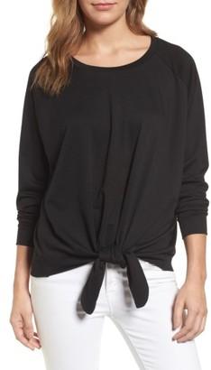 Women's Caslon Tie Front Sweatshirt $49 thestylecure.com