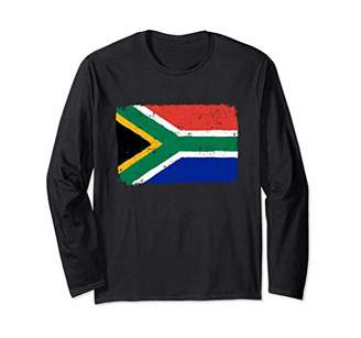South Africa Flag Long Sleeve Distressed Vintage