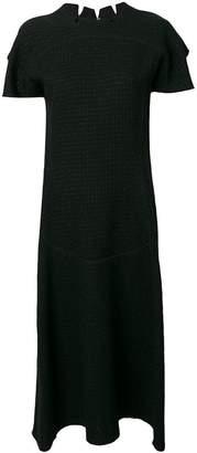 Maison Margiela textured raw edge dress