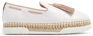 Tod's Gomma tassel-embellished leather espadrilles