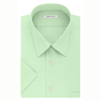 Van Heusen Easy-Care Poplin Big And Tall Point Collar Short Sleeve Dress Shirt