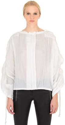 Loewe Pleated Cotton Ramie Top