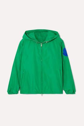 Moncler Hooded Appliquéd Shell Jacket - Green