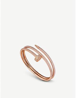 Cartier Juste un clou 18ct pink-gold and diamond double bracelet