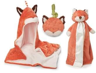 Bunnies by the Bay Fox Blanket, Book & Lovie Set