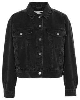 Topshop MOTO Cropped Oversized Jacket