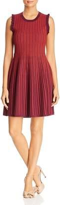 Kate Spade Sleeveless Textured-Stripe Sweater Dress
