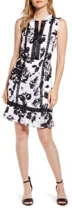 Karl Lagerfeld Paris Floral Print Sleeveless Dress