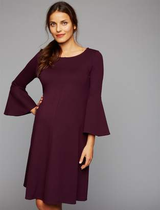 f71d1a9a16844 Isabella Oliver Pea Collection Natalia Bell Sleeve Maternity Dress