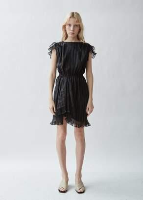 564b5df913a0 Isabel Marant Marisa Lame Ruffled Dress