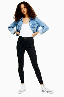 Topshop PETITE Black Joni Jeans