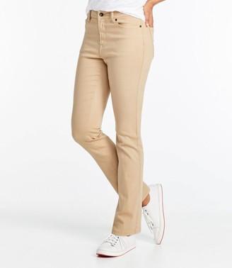 L.L. Bean L.L.Bean Women's True Shape Jeans, Classic Fit Slim-Leg Colored
