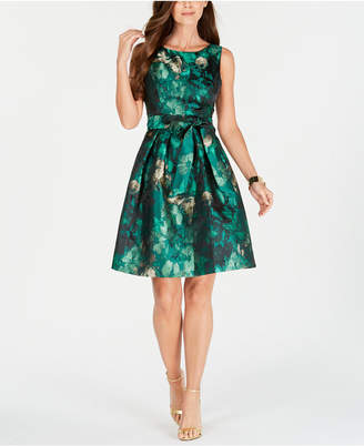 Jessica Howard Petite Jacquard Fit & Flare Dress