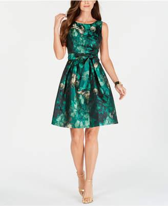 308493eb89d Jessica Howard Petite Jacquard Fit   Flare Dress