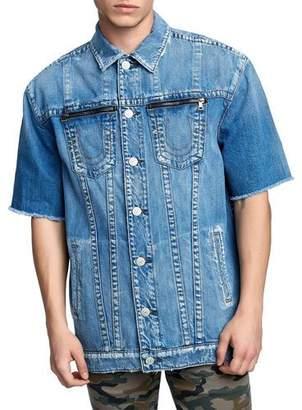 True Religion Men's Turner Short-Sleeve Denim Jacket