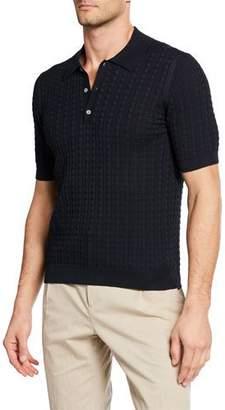 Salvatore Ferragamo Men's Gancini Knit Polo Shirt