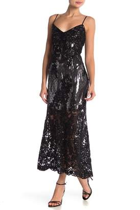 ABS by Allen Schwartz Chloe Sequin Slip Dress