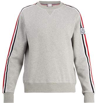 Moncler Striped-sleeve jersey sweater