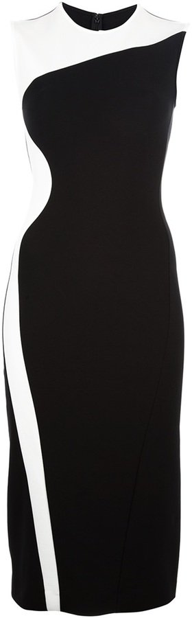 Stella McCartney bi-colour fitted dress