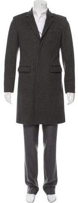 Marc by Marc Jacobs Patterned Wool Long Coat
