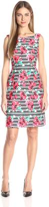 Adrianna Papell Women's Printed Scuba a-Line Dress