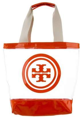 Tory Burch Leather-Trimmed PVC Tote