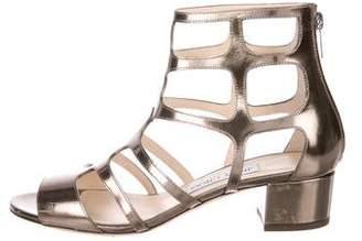 Jimmy Choo Metallic Low-Heel Sandals