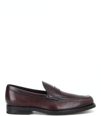 Tod's Burnt Brown Leather Formal Loafers