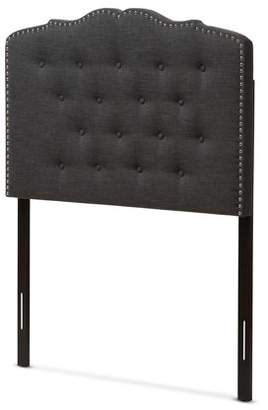 Baxton Studio Lucy Modern and Contemporary Dark Grey Fabric Full Size Headboard