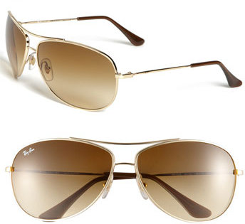 Ray-Ban 'Bubble Wrap' Metal Aviator Sunglasses
