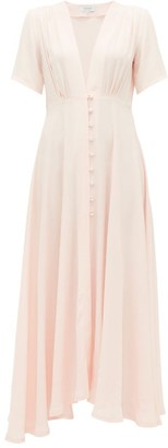 Gioia Bini Carolina Short Sleeved Cady Dress - Womens - Light Pink