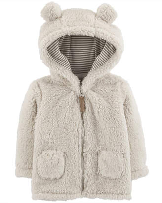 Carter's Baby Girls or Boys Fleece Hooded Jacket