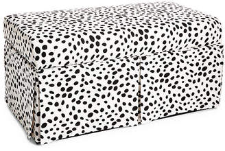 One Kings Lane Hayworth Skirted Storage Bench - Dots
