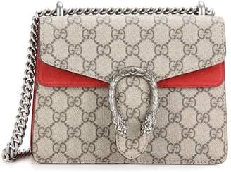 Gucci Dionysus GG Supreme Mini coated canvas and suede shoulder bag