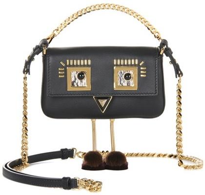 FendiFendi Micro Baguette leather shoulder bag