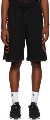 Marcelo Burlon County of Milan Black Flame Sweat Shorts