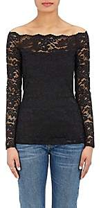 L'Agence Women's Heidi Lace Off-The-Shoulder Top - Black