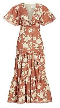 Johanna Ortiz Women's Tea House Floral Tiered Dress