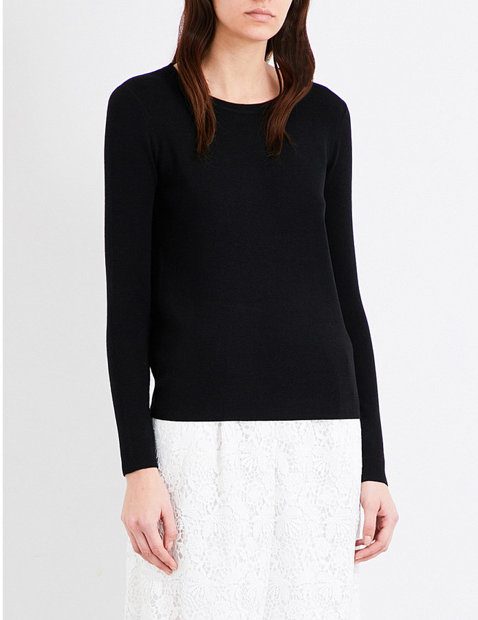 Diane Von Furstenberg Kylee merino wool and silk-blend jumper