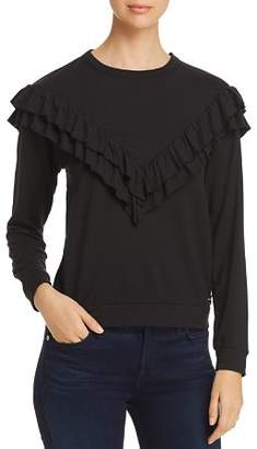 Andrew Marc Ruffle Trim Top