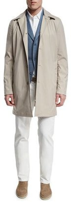 Loro Piana Delaware Button-Down Trench Coat, Pumice/Desert Dust $2,295 thestylecure.com